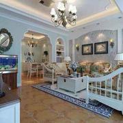 欧式简约风格客厅拱形门设计