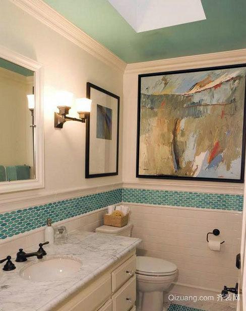 怎么都能感到舒心:时尚家庭精致小卫生间装修效果图实例鉴赏
