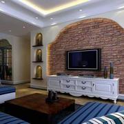 美式砖饰背景墙设计
