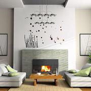 美式简约风格手绘墙装饰