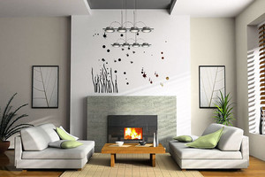 2015全新简约风格现代简洁手绘墙设计效果图