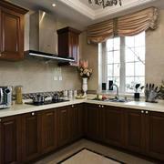 美式风格厨房橱柜效果图