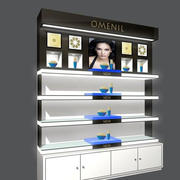 美容店展柜效果图