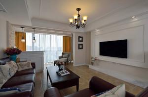 美式简约风格复式楼客厅装修