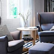 北欧风格简约客厅效果图