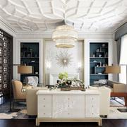 美式风格别墅书房装饰