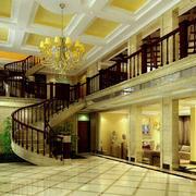 欧式精美深色楼梯装饰