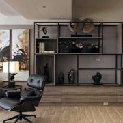 三室一厅客厅置物架效果图