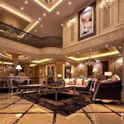 别墅简欧风格奢华客厅装饰