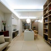 小户型客厅整体置物架装饰