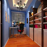 欧式小型书房效果图