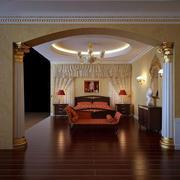欧式奢华鹅黄色卧室壁纸装饰