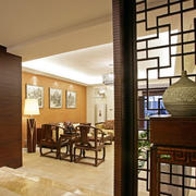 中式玄关隔断装饰