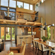 loft风格原木客厅设计