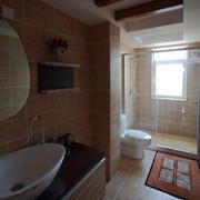东南亚浅色卫浴淋浴装饰