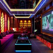 现代简约风格ktv电视墙装饰