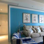 现代简约风格婚房沙发背景墙