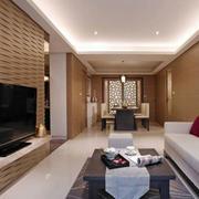 两室一厅简约客厅吊顶装饰