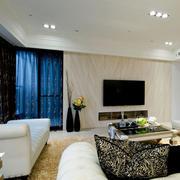 现代简约风格新房客厅装饰
