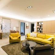 两室一厅客厅简约风格吊顶设计