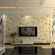 简约田园风格客厅背景墙
