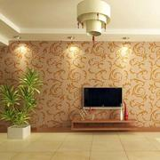 中式印花电视背景墙设计