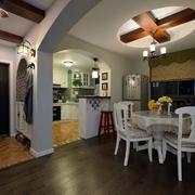 婚房客厅拱形门设计