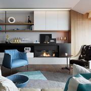 别墅北欧风格客厅沙发效果图
