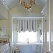 欧式奢华卫生间吊顶灯饰设计