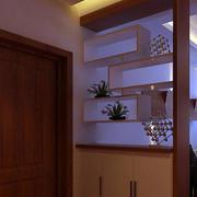 复式楼玄关整体置物架装饰