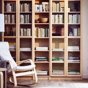 客厅书房原木书柜装饰