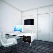 后现代风格客厅电脑桌设计