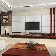 现代简约风格石膏板背景墙
