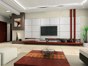 大户型简欧电视背景墙设计效果图欣赏