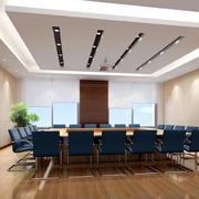 简约风格后现代会议室吊顶装饰