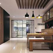 日式新房餐厅吊顶设计