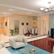 中式现代化客厅沙发装饰