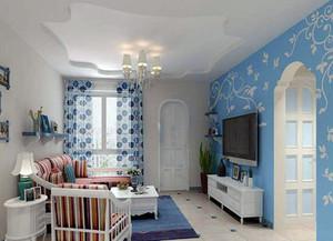 地中海风格的电视背景墙装修效果图大全