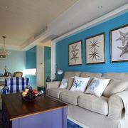简约风格婚房客厅沙发设计
