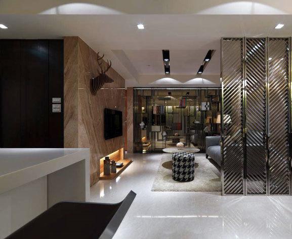 80平米温馨低调奢华注重质感的现代一居公寓装修