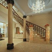 大型别墅奢华楼梯装饰