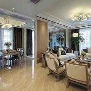 三室两厅奢华餐厅装饰效果图
