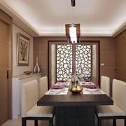 两室一厅简约餐厅吊顶装饰