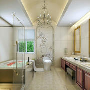 欧式风格卫生间灯饰设计