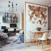 混搭简约风格工作室桌椅效果图