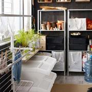 简约风格洗衣房整体置物架设计