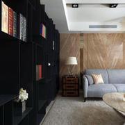一室一厅客厅整体书柜装修