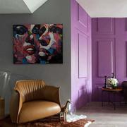 后现代风格公寓客厅皮制沙发装饰