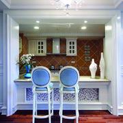 别墅地中海厨房吧台设计