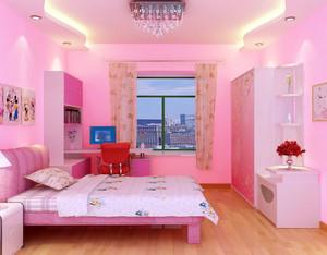 粉色系儿童房设计